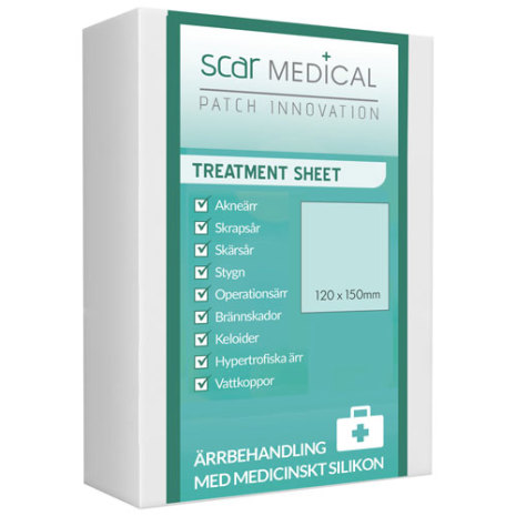 ScarMEDICAL Ärrplåster Transparent 1st Stort Ark à 120 *150 mm